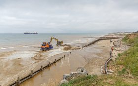 Sandscaping activities on the Norfolk coast line