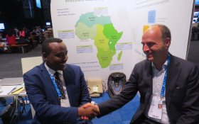 Negash Wagesho with Jeroom Remmers at Stockholm world water week 2019.