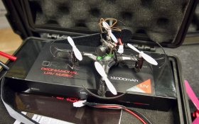 Drone operated by AT3 team University of Twente