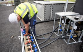 Temporary water facilities provided by MTD Pure Water