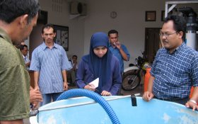 Training session on water treatment