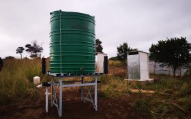 Water tank to serve as handwashing facility