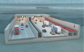 Impression of immersed tunnel that is to complete the Antwerpen ring road