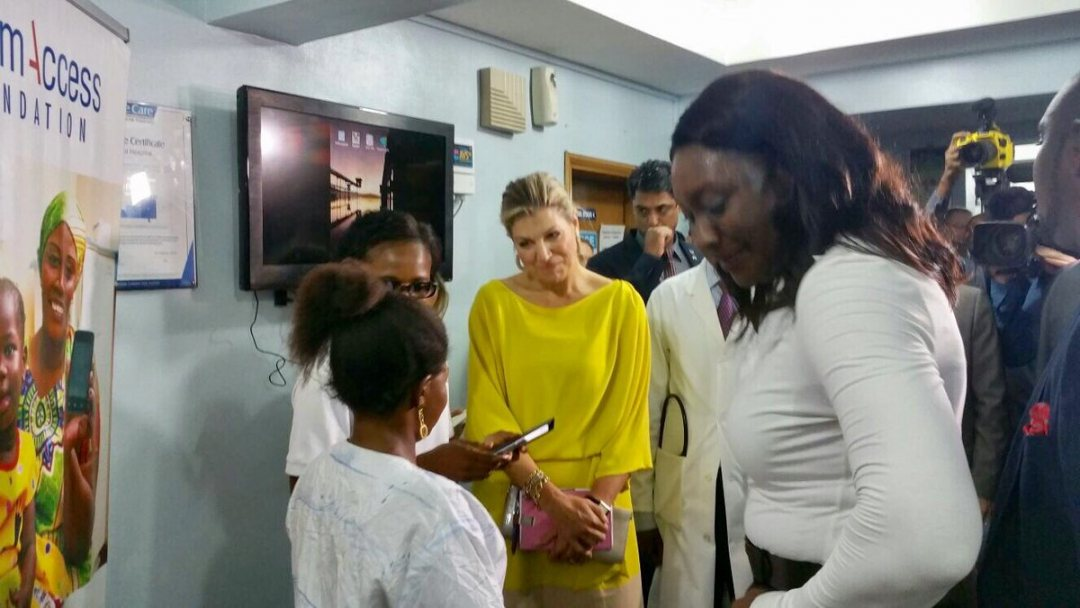 Queen Maxima will open the GES2019 summit. Here seen visting a Nigerian hospital