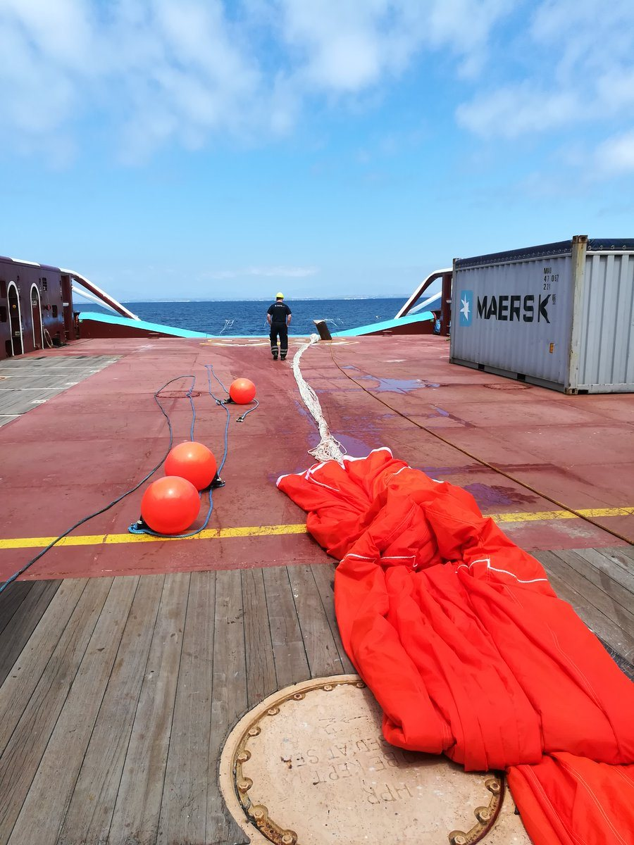 The parachute sea anchor of The Ocean Cleanup