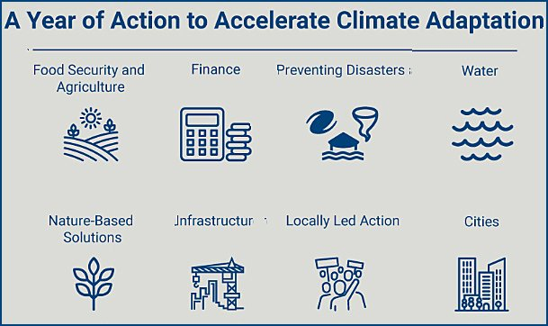 Eight action tracks to boost climate adaptation new