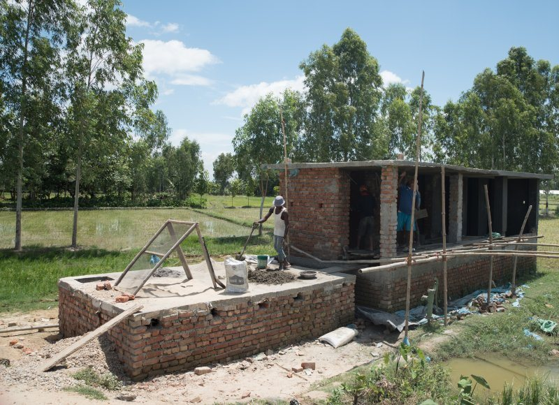 New toilets build in Nepal by SNV