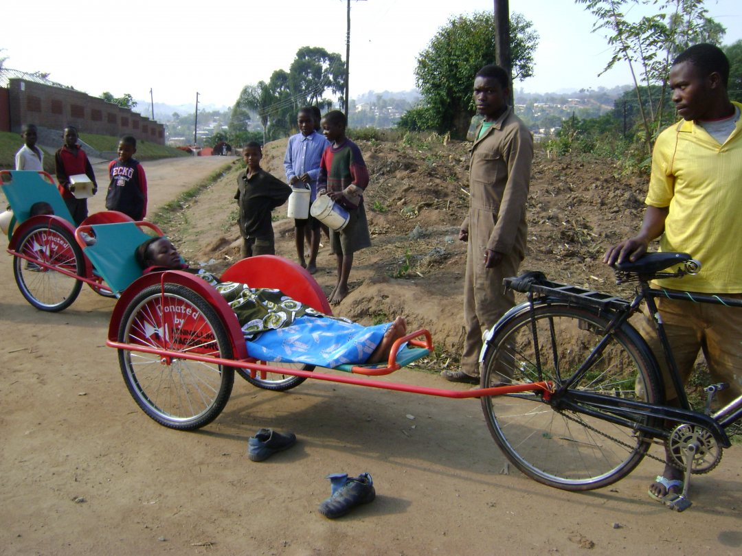 Bicycle ambulance service in Malawi
