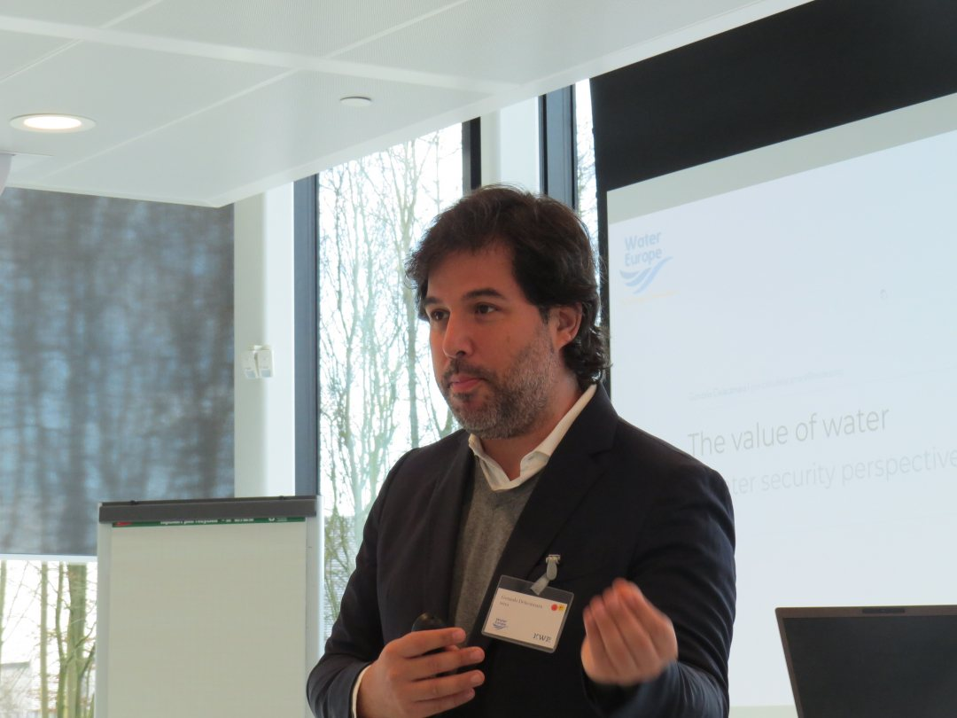 Gonzalo Decalamaraof IMDEa at KWR workshop on water security