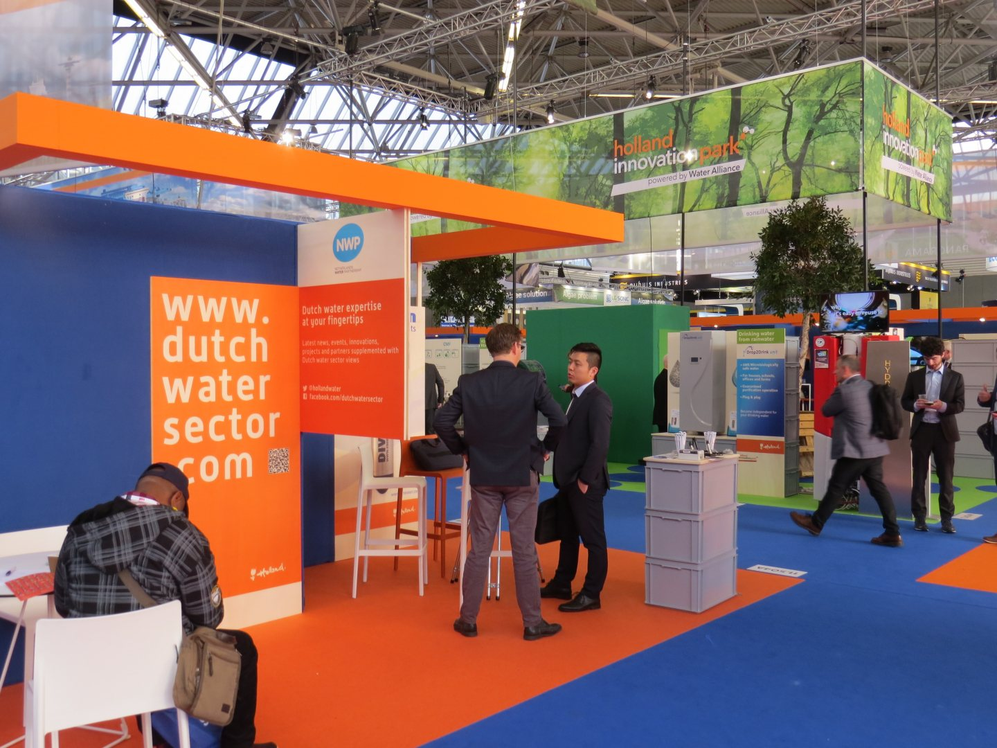 Netherlands pavilion at water technology trade fair Aquatech Amsterdam in November 2019