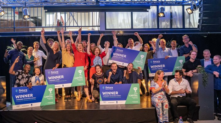 All five winning Dutch startups of the Finture Solutions challenge that received 125,000 eur to further develop their business cases.
