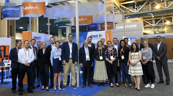 Dutch delegation in Holland Pavilion at WEFTEC 2018
