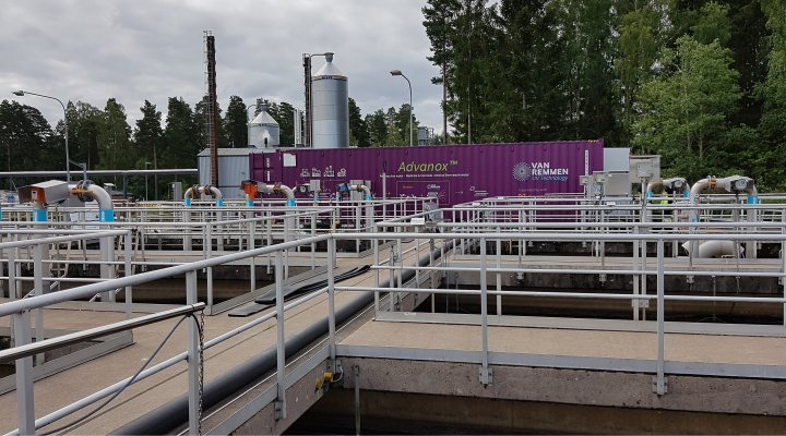 Waste water treatment plant Vaxjo in Sweden