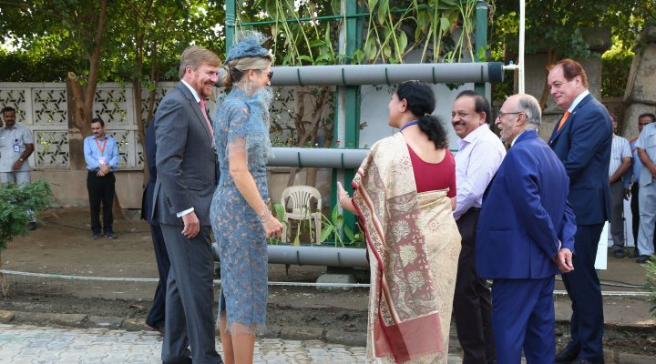 The Dutch Royal couple launches a new vertical waste water treatment pilot in New Delhi