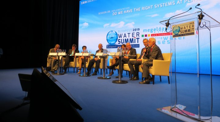 Budapest water summit with panel discussing integrated water management