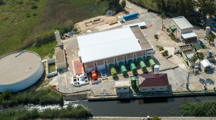 Racones water treatment plant in Spain