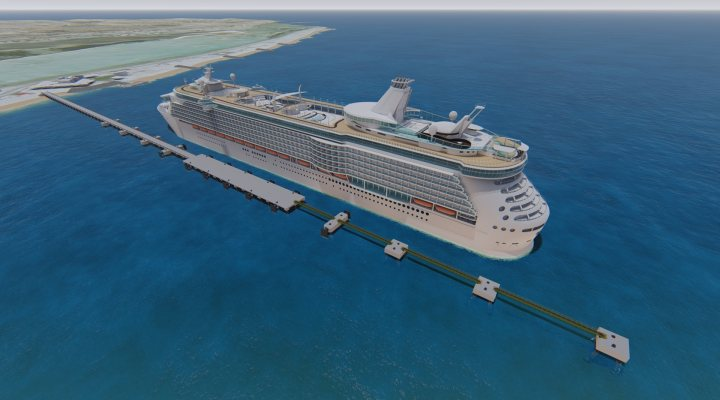 Design of new cruise jetty at Sir Bani Yas island in Adu Dhabi