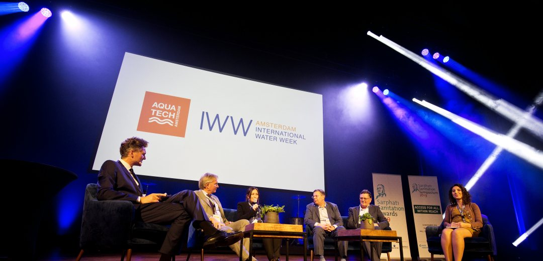 Panel discussion during AIWW2019 on motto to connect and act to make water work