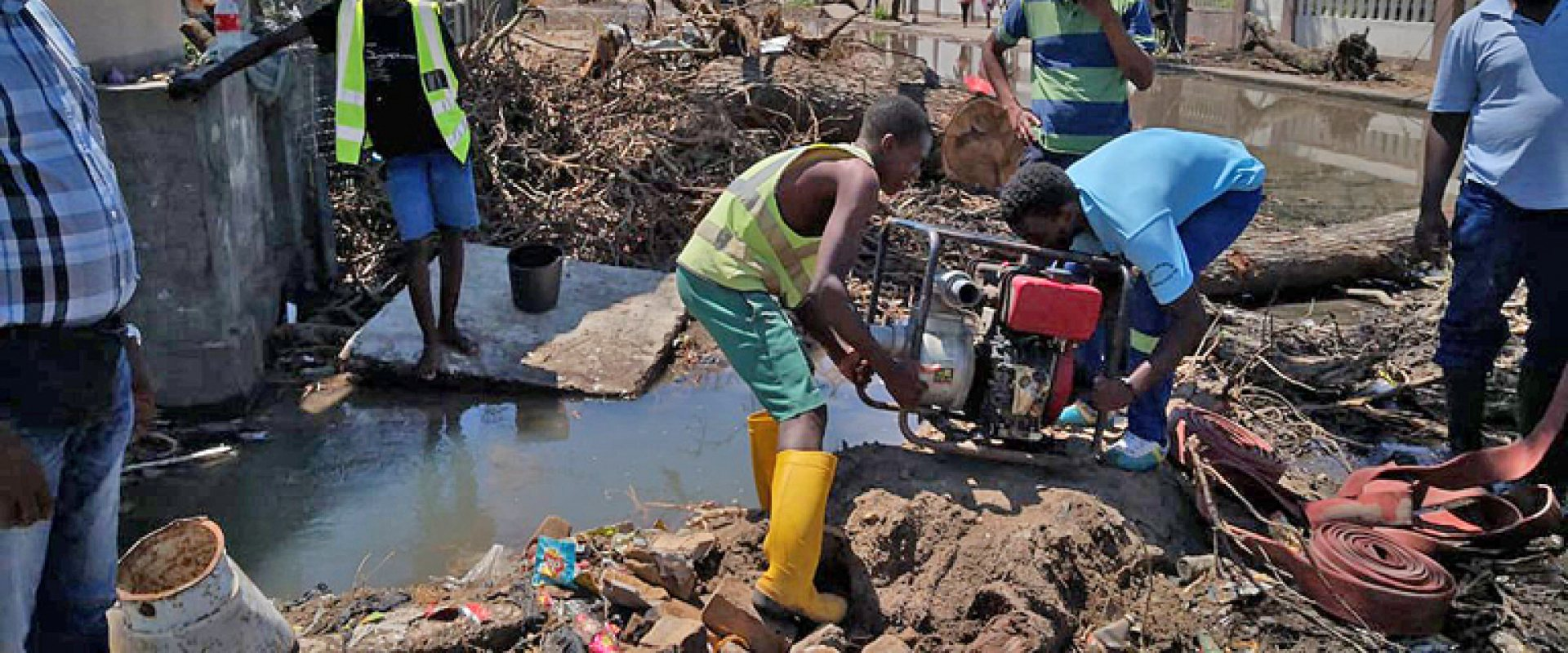 Cyclone Idai caused enormous damage in the City of Beira in Mozambique
